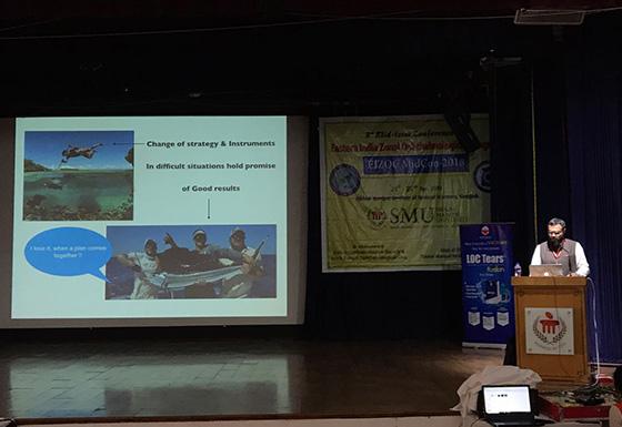 Conference delivering talk