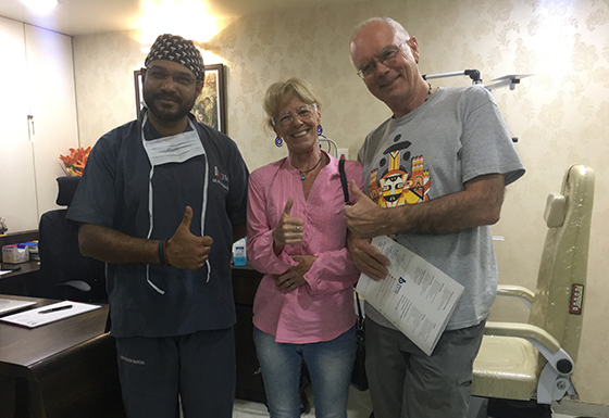 Happy American patients after both eye surgery