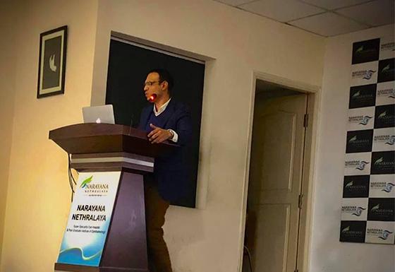 Invited faculty lecture at Narayana Netralaya, Bengaluru
