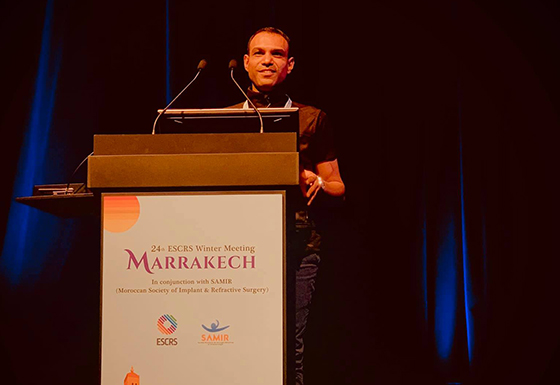 Presenting at the ESCRS conference in Marrakesh, Morocco